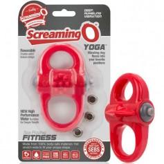screaming o anillo vibrador yoga rojo